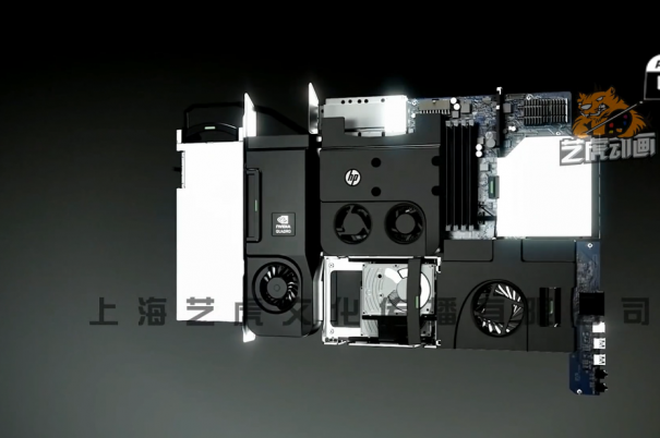 三维动画电脑组装