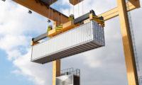 物流集装箱码头贸易建筑漫游动画